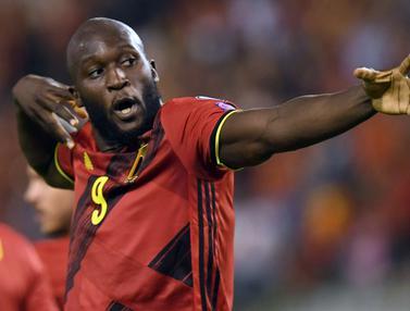 Foto: Romelu Lukaku Cetak Gol Pembuka, Belgia Jinakkan Republik Ceska 3-0 dalam Laga Kualifikasi Piala Dunia 2022