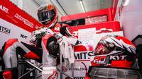 Pembalap Astra Honda Racing Team, Dimas Ekky Pratama, akan turun pada ajang Moto2 di Sirkuit Catalunya, Barcelona, akhir pekan nanti dengan status wildcard. (Astra Honda Racing Team)