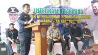 Menteri Pertanian Syahrul Yasin Limpo mengunjungi Integrated Farming di Desa Kragan, Kecamatan Gondangrejo Kabupaten Karanganyar. (Dok. Kementan)