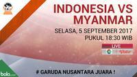AFF 2017 U-18 Indonesia Vs Myanmar (Bola.com/Adreanus Titus)
