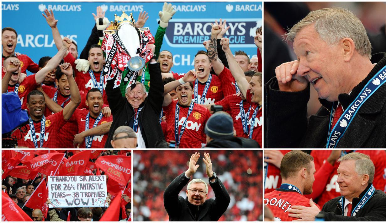 12 Mei 2013 menjadi hari yang paling menggembirakan sekaligus mengharukan bagi Manchester United. Kala itu Setan Merah berhasil meraih trofi Premier League dan sekaligus hari terakhir Sir Alex Ferguson memimpin Setan Merah di Old Trafford.