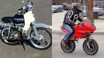 6 Potret Modifikasi Sepeda Motor Jadi Mini, Bikin Gagal Paham