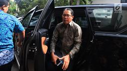 Plt Ketum PSSI Joko Driyono tiba di Polda Metro Jaya, Jakarta, Kamis (21/2). Joko diperiksa sebagai tersangka penyidik Satgas Antimafia Bola dalam kasus dugaan skandal pengaturan skor pertandingan bola liga 2 dan liga 3 Indonesia.(Merdeka.com/Imam Buhori)