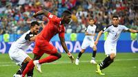 Pemain Swiss ketika bersua Kosta Rika pada matchday ketiga Grup E Piala Dunia 2018, di Stadion Ninzhny Novgorod, Nizhniy Novgorod, Rabu (27/6/2018) atau Kamis dini hari WIB. (AFP/Johannes Aisele)