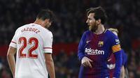 Pelatih Barcelona, Ernesto Valverde, kecewa dengan permainan buruk yang ditunjukkan anak asuhnya ketika bermain imbang 2-2 kontra Sevilla. (AP Photo/Miguel Morenatti)