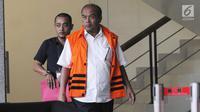 Mantan Dirut PT Asuransi Jasindo, Budi Tjahjono ditahan usai menjalani pemeriksaan sebagai tersangka di gedung KPK, Jakarta, Senin (16/7). Budi Tjahjono ditahan Rumah Tahanan (Rutan) Pomdam Jaya, Guntur. (Merdeka.com/Dwi Narwoko)