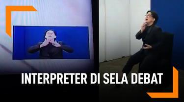 Interpreter Terjemahkan Lagu Via Vallen Saat Sela Debat Capres
