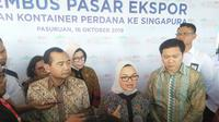 Ekspor perdana Le Minerale ke Singapura ini dilakukan di Pasuruan, Jawa Timur.(Foto:Liputan6.com/Dian Kurniawan)