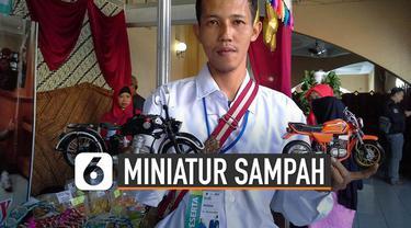 Pemuda asal Tasikmalaya, Jawa Barat berhasil menyulap sampah jadi karya yang unik dan punya nilai jual.