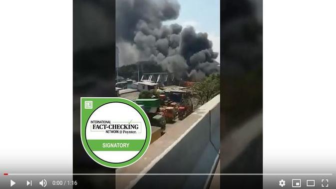 [Cek Fakta] Hoaks Kebakaran Di Kolong Jembatan Layang Pluit