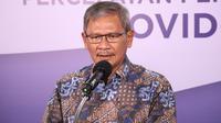 Juru Bicara Pemerintah untuk Penanganan COVID-19 Achmad Yurianto saat konferensi pers Corona di Graha BNPB, Jakarta, Kamis (2/7/2020). (Dok Badan Nasional Penanggulangan Bencana/Fotografer Ignatius Toto Satrio)
