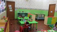 Taman Pengasuhan Anak di Kementerian Kesehatan RI untuk para staf ibu pekerja. (Liputan6.com/Fitri Haryanti Harsono)