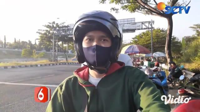 Hari kedua Lebaran Idul Adha, ratusan pengendara roda dua dari arah Bangkalan menuju Jembatan Suramadu di Sampang Jawa Timur, mengalami kepadatan pada Minggu sore.