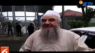 Salah seorang tamu yang mengaku teman pengasuh Pondok Pesantren Al-Mukmin Ngruki, Sukaharjo, dilarang masuk ke Lapas.