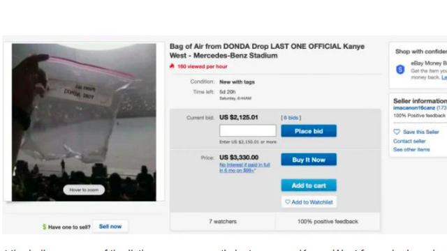 Fantastis, Kantong Plastik Isi Udara dari Konser Kanye West Terjual Rp 110 Juta