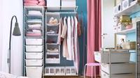 Pilih lemari terbuka. Oper wardrobe gitu~ (Via: brightiside.me)