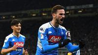 Selebrasi Fabian Ruiz saat Napoli Bungkam Inter Milan di Coppa Italia (AP)