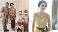 Penampilan Sarah Menzel di acara nikahan Aurel Hermansyah, cantik bak boneka. (Sumber: Instagram/@ssarah_menzel)