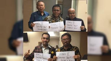Beredar foto anggota Komisi III DPR mengangkat kertas bertuliskan dukungan untuk BG menjadi Kepala BIN.