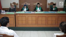 Suasana sidang Roby Geisha dan Istrinya Cinta Ratu Nansya di Pengadilan Agama Jakarta Selatan, Senin (12/3). Roby Geisha dan Cinta Ratu Nansya menikah di Masjid Dian Al Mahri, Limo, Depok, Jawa Barat, pada Oktiber 2015 silam. (Liputan6.com/Faizal Fanani)