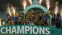 Timnas Malaysia U-19 meraih juara Piala AFF U-19 2018 setelah mengalahkan Myanmar. (Bola.com/Aditya Wany)