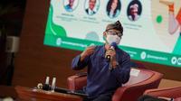 Direktur Utama Saung Angklung Udjo Taufik Hidayat Udjo dalam Bincang-Bincang Program CHSE dan Gerakan Pakai Masker, Selasa, 2 Februari 2021. (dok. Biro Humas dan Komunikasi Publik Kemenparekraf)