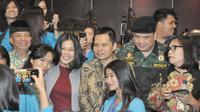 Keluarga Besar Putra-Putri Polri (KBPPP), dan mahasiswa Universitas Kristen Indonesia (UKI), yang memenuhi Gedung Nusantara V, Komplek Parlemen, Senayan, Jakarta, 3 Desember 2018.