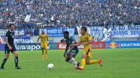 Duel PSIS vs Bhayangkara FC dalam leg kedua babak 16 besar Piala Indonesia 2018 di Stadion Moch. Soebroto, Magelang, Minggu (24/2/2019). (Bola.com/Vincentius Atmaja)
