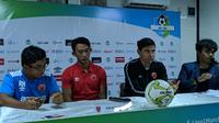 Konferensi Pers Bhayangkara FC Vs PSM di Stadion PTIK, Jakarta Selatan, Jumat (26/4/2019). (Bola.com/Muhammad Adiyaksa).