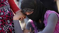Ilustrasi wanita Yazidi (Sumber Ahmad Al-Rubaye/AFP/Getty Images)