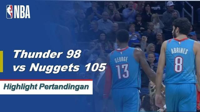 Jamal Murray mencetak 22 poin untuk memimpin Nuggets menang atas Thunder, 105-98.