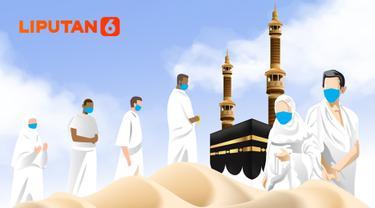 Banner Infografis Tahun Kedua Ibadah Haji di Tengah Pandemi Covid-19. (Liputan6.com/Abdillah)