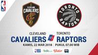 Cleveland Cavaliers Vs Toronto Raptors (Bola.com/Adreanus Titus)