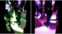 Pasangan bocah yang menari saat pesta (Sumber: Twitter/TheFigen)