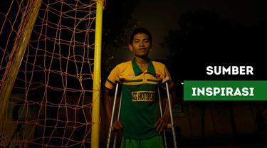 """Berita video """"Ini Ceritaku"""" tentang Chandra W. Aji, kiper futsal dengan hanya satu kaki, berbagi ilmu untuk memajukan sepak bola Indonesia."""