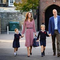 Intip gaya Kate Middleton dengan gaun floral ketika mengantar anak-anaknya ke sekolah (Foto: instagram/kensingtonroyal)