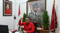 Sekretaris Jenderal DPP PDIP Hasto Kristiyanto Saat Rapat Kerja Cabang Khusus (Rakercabsus) DPC PDIP Surabaya Secara Virtual. (Foto: Dokumentasi PDIP).