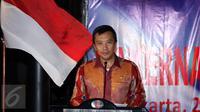 Menpora Imam Nahrawi memberi sambutan pembuka Rakernas PB PABBSI di Jakarta, Selasa (20/12). Rakernas ditandai dengan pemberian bonus bagi atlet berprestasi. (Liputan6.com/Helmi Fithriansyah)