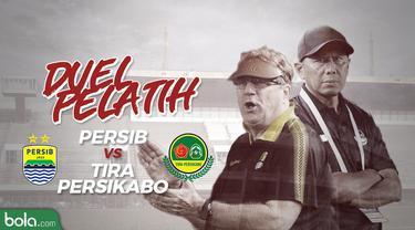 Duel Pelatih Persib Bandung dan Tira Persikabo
