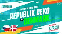 Republik Ceko vs Denmark (liputan6.com/Abdillah)