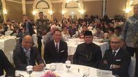 Prabowo Subianto menghadiri forum ekonomi internasional di Hotel Shangri-La, Jakarta, Rabu (21/11/2018) (Liputan6.com/Ditto)