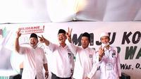 Pasangan Calon Wali Kota dan Wakil Wali Kota nomor urut 2, Machfud Arifin-Mujiaman.
