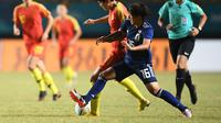 Final sepak bola putri antara Jepang melawan Tiongkok di Stadion Jakabaring (ANTARA FOTO/INASGOC/Zabur Karuru/nz/18)