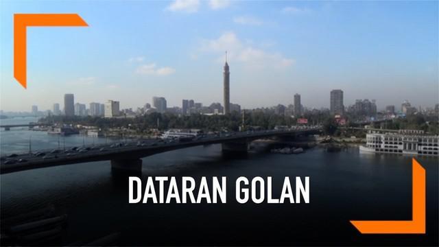 Dataran Golan sedang jadi pembicaraan setelah AS mengakui Golan sebagai bagian dari Israel. Uni Eropa menolak klaim Israel dan AS atas Dataran Golan.