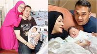 Fadlan Muhammad dan Lyra Virna asuh bayinya (Sumber: Instagram/fadlanmuhammad)