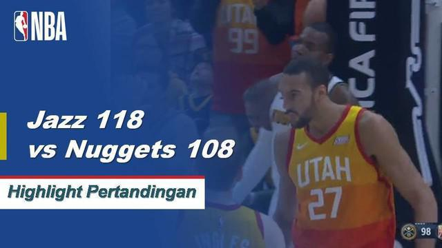 Donovan Mitchell mencetak 46 poin dan Rudy Gobert menambah double-double (20 poin, 10 rebound) ketika Jazz menjaga Nuggets di kandang.