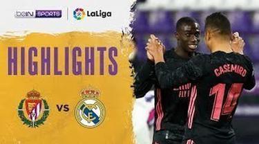 Berita video highlights Liga Spanyol, Real Valladolid Vs Real Madrid 0-1, Minggu dini hari (21/2/21)