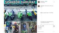 Meme Otomotif Pekan Ini: Tak Ada Spakbor Daun pun Jadi. (Instagram @harisnesia)