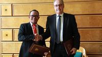 Menteri Ketenagakerjaan M. Hanif Dhakiri dalam Pertemuan Bilateral dengan Departemen Federal Bidang Ekonomi, Pendidikan, dan Penelitian Konfederasi Swiss di Jenewa