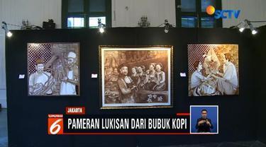 Museum Seni Rupa dan Keramik di gelar pameran lukisan unik dari bubuk kopi. Pameran berlangsung dari tanggal 9-16 Februari 2019.